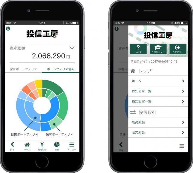 松井証券、ポートフォリオ提案サービス『投信工房』のスマートフォン向けアプリ提供開始